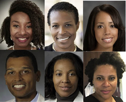 "<strong>""We, too, are radiation oncologists.""</strong> The authors of ""Why Racial Justice Matters in Radiation Oncology"" (clockwise from top left): Christina Hunter Chapman, MD, MS; Darlene Gabeau, MD, PhD; Chelsea Pinnix, MD, PhD; Curtiland Deville Jr., MD; Iris C. Gibbs, MD, and Karen M. Winkfield, MD, PhD."