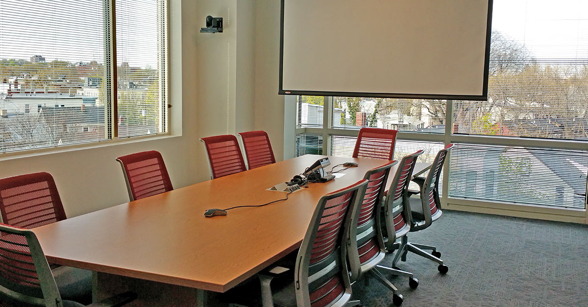 A conference room in Elsevier's new office in Cambridge, Massachusetts. (Photos by Assistant Facility Manager Patty A. Evans)
