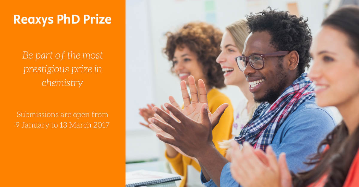 The Reaxys PhD Prize, which is open for submissions until March 13, was created to recognize and celebrate the work of talented young chemists around the world.