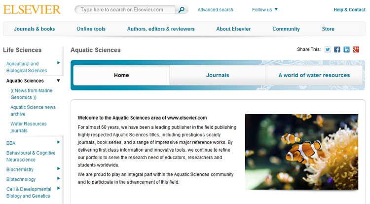 Elsevier Aquatic Sciences Portal