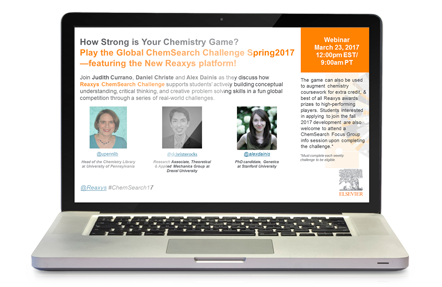 Discover why you should play the ChemSearch Challenge Spring 2017 - Reaxys | Elseiver
