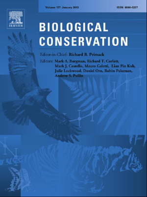 <em><a href='http://www.sciencedirect.com/science/article/pii/S0006320713000074' target='_blank'>Biological Conservation</a></em>,&nbsp;Volume 157, January 2013