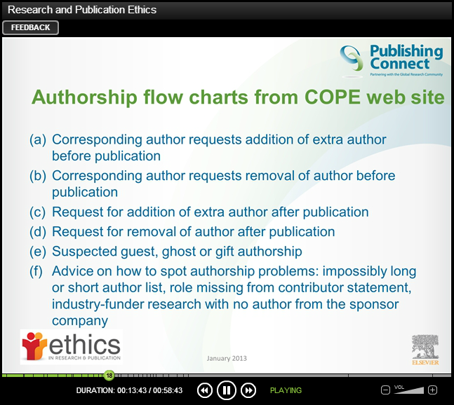 Authorship flow charts