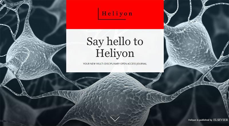 Heliyon homepage