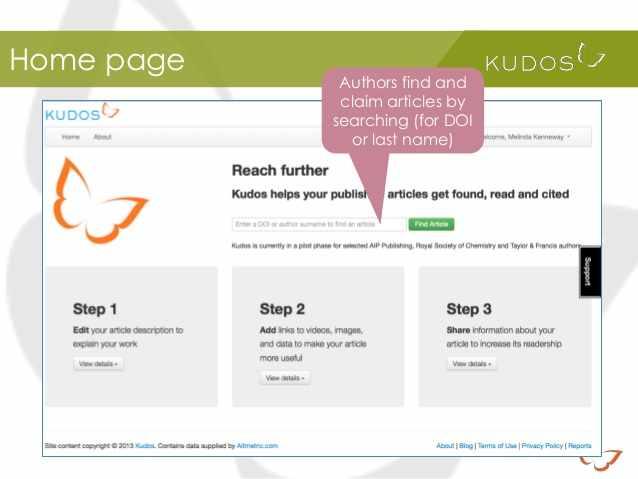 Kudos Homepage