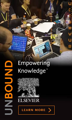 ElsevierHacks banner linking to Empowering Knowledge page