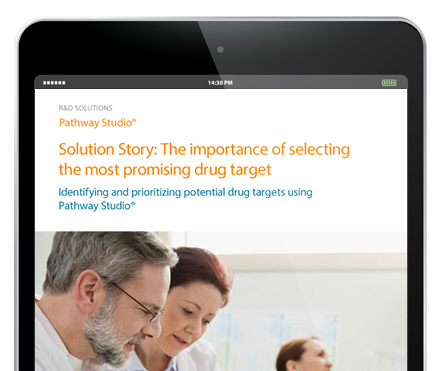 Identifying the most promising drug target - Drug Discovery & Development, Pathway Studio |Elsevier Solutions