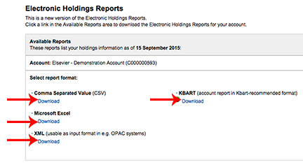 Electronic Holdings Reports - Screenshot
