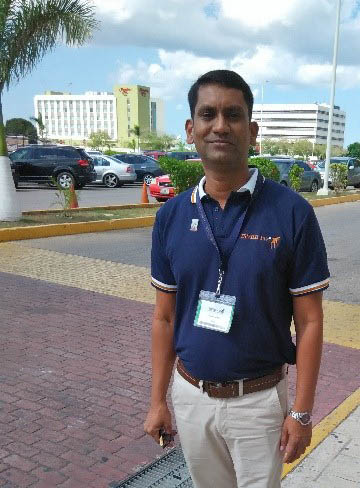 Dinesh Mohite attending the International Symposium of Veterinary Epidemiology and Economics in Mexico in 2015.