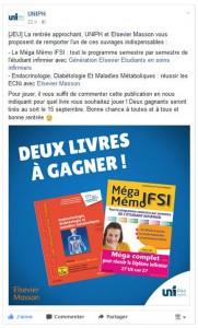 UNIPH organise un jeu pour gagner des livres Elsevier !