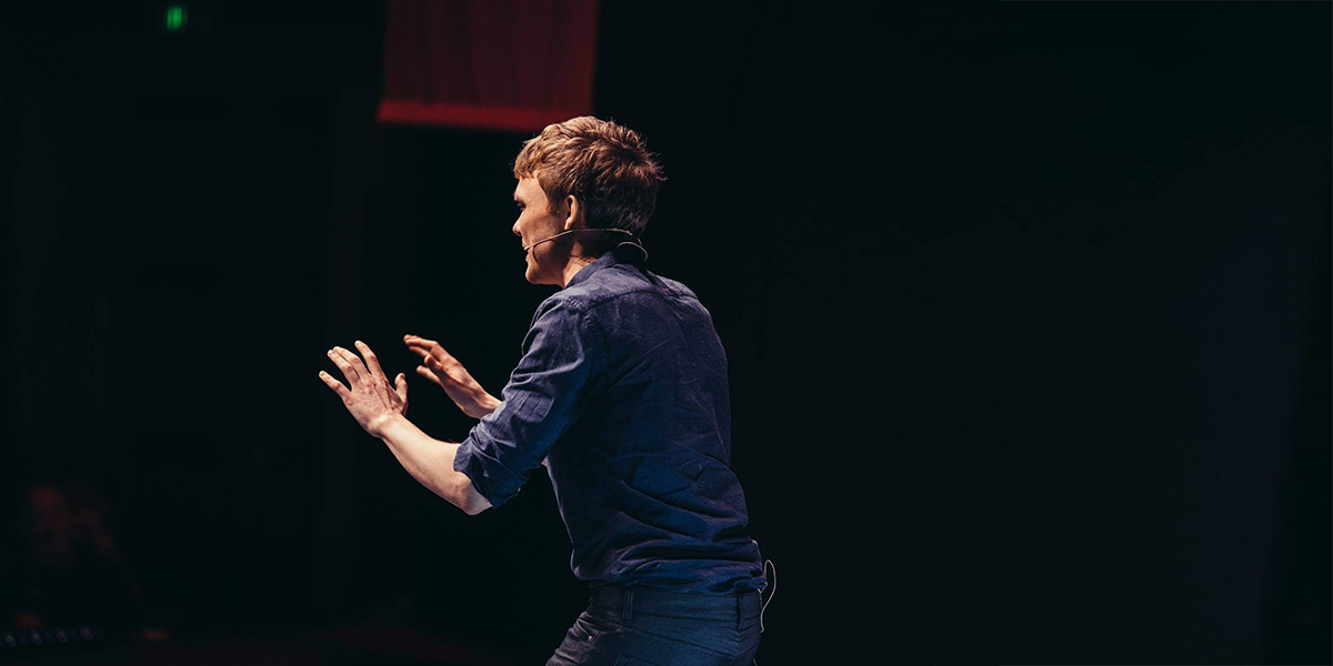 Alexander Mathiasen on TEDx stage