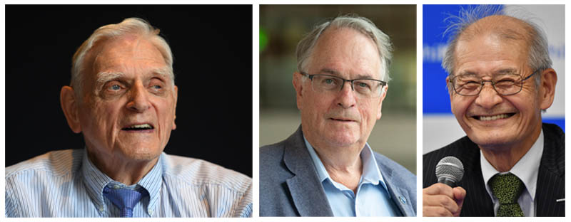 John B. Goodenough, M. Stanley Whittingham and Akira Yoshino were jointly awarded the 2019 Nobel Prize in Chemistry (Photos: ANP)