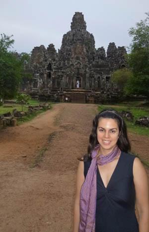 Prof. Lara Perez-Felkner, PhD, in Angkor, Cambodia