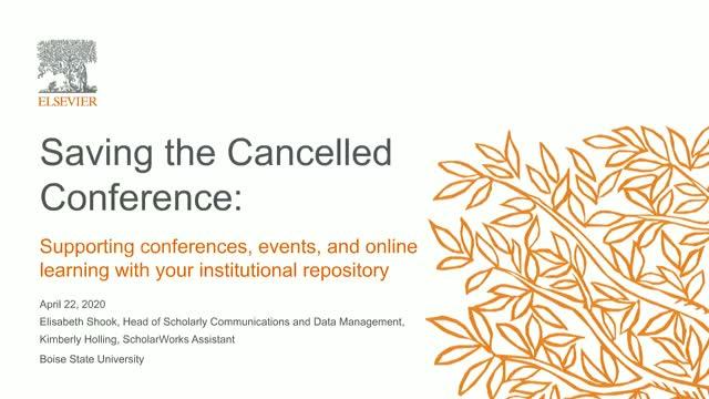 Webinar thumbnail: Saving the Cancelled Conference | BrightTalk