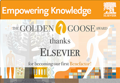 Golden Goose thanks Elsevier