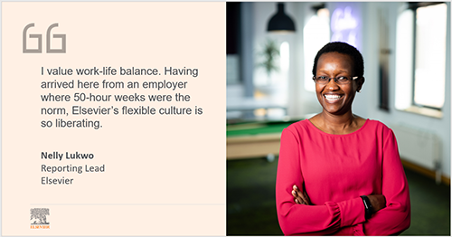 Nelly Lukwo – Flex working at Elsevier