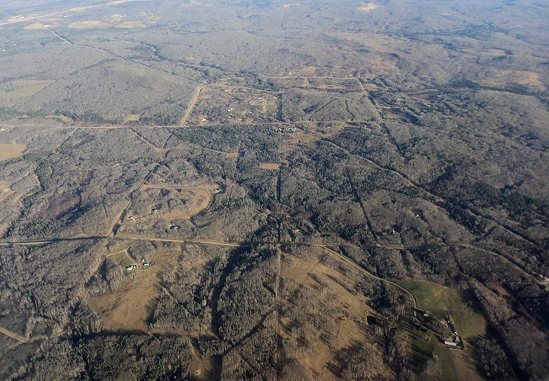 After oil and gas activities, the land may look divided up by access roads, even long after operations have finished. (Photo by Mike Stephenson)