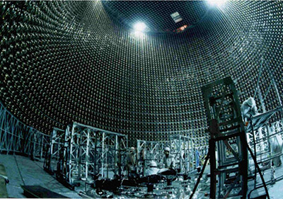 "Construction of the Super-Kamiokande Neutrino Observatory in Japan. (Photo by Amber Case, <a href=""https://creativecommons.org/licenses/by-nc/2.0/"">CC BY-NC 2.0</a>)"