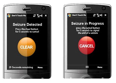 The Epdetect app uses motion sensors to detect epilepsy. (Image courtesy of Epdetect)