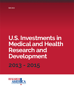 Research!America report on US Investments in Medical and Health R&D