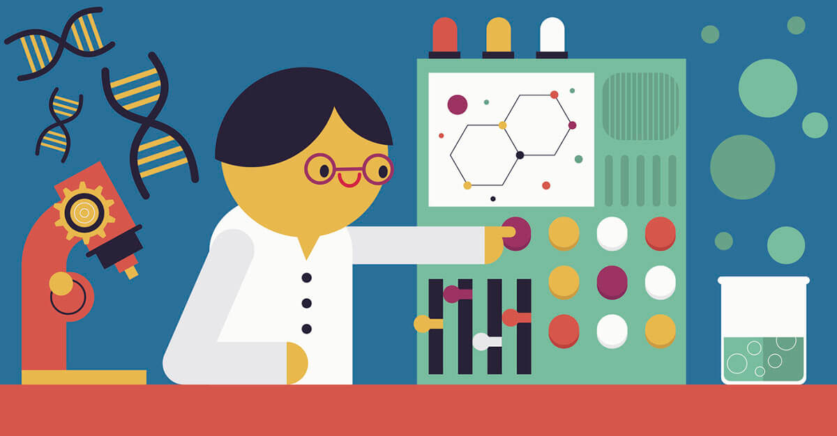 scientist-in-lab-illustration