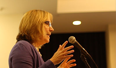 Nancy Shute, co-host of National Public Radio's Shots health blog (Photo: Bec Susan Gill, Did Someone Say Science?)