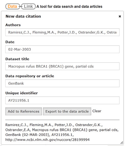 Datalink tool helps researchers search cite and write about data automatic data citation generator ccuart Image collections