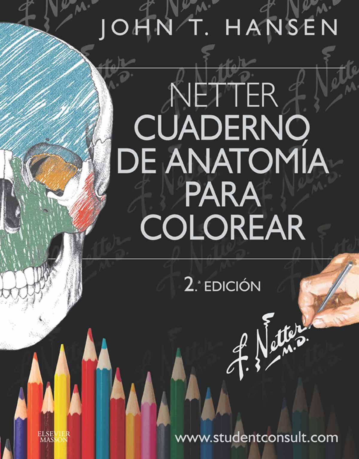 Netter, cuaderno de Anatomía para colorear