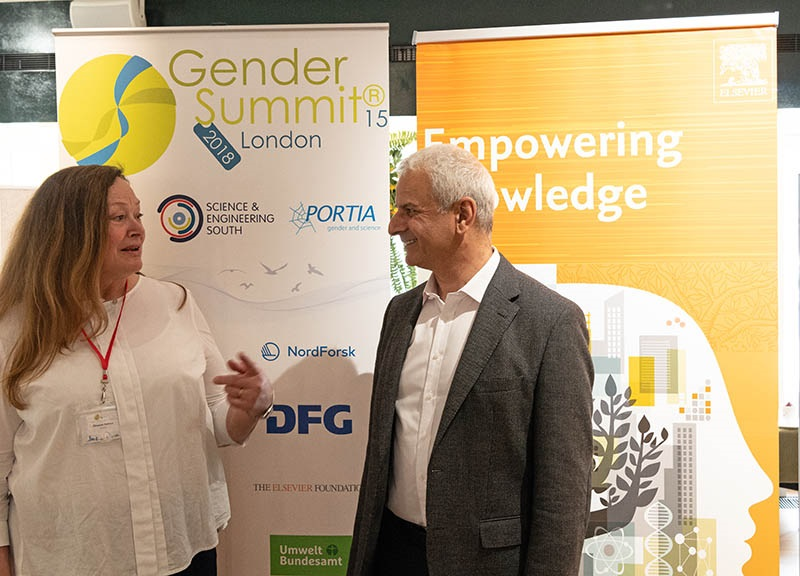 Ron Mobed talks with Dr. Elizabeth Pollizer, Director of Portia Ltd and 'architect' and organizer of the Gender Summits.