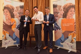 Image: Pictured are the three winners of the 2017 Reaxys PhD Prize