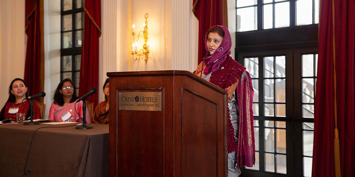 Tabassum Mumtaz at AAAS ceremony