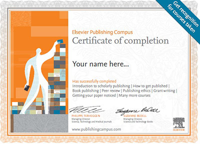 Publishing Campus Certificate of Completion