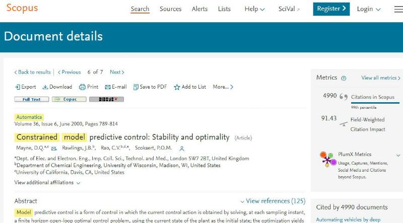 Scopus article details screenshot