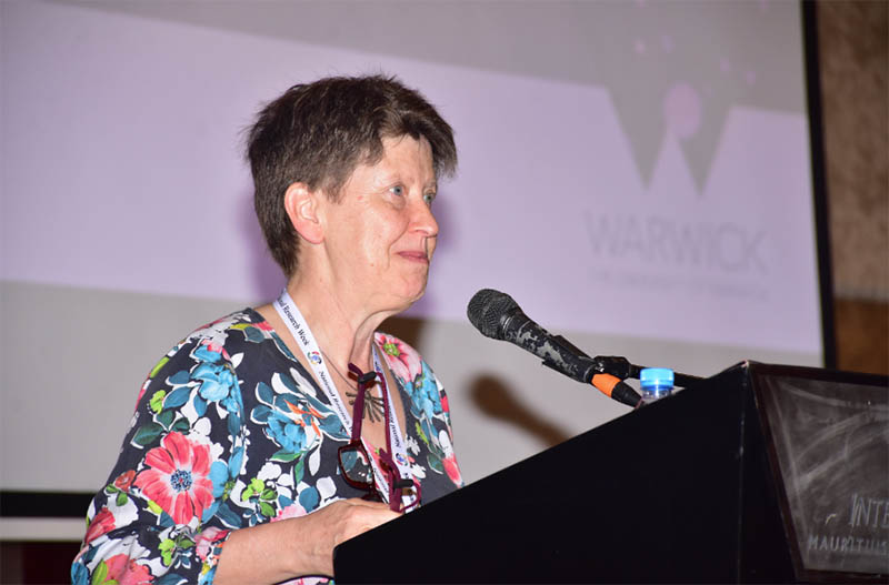 "Prof. Christine Ennew, Provost at the University of Warwick in the UK, gives a keynote speech on ""Turning your research idea into a proposal for funding."""