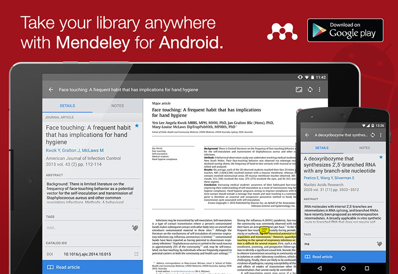 Mendeley Android app
