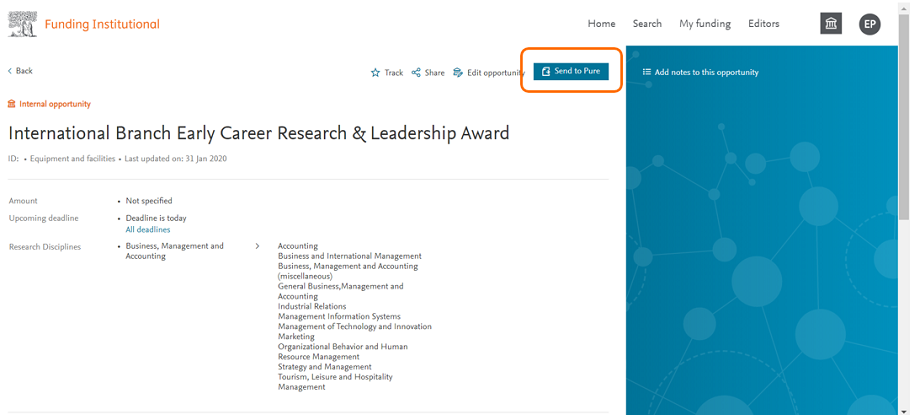 International branch Early career research and Leadership award - FI | Elsevier