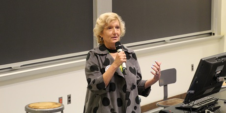 Prof. Donna Huryn teaching a class