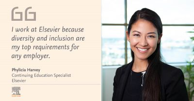I work at Elsevier because diversity and inclusion are my top requirements