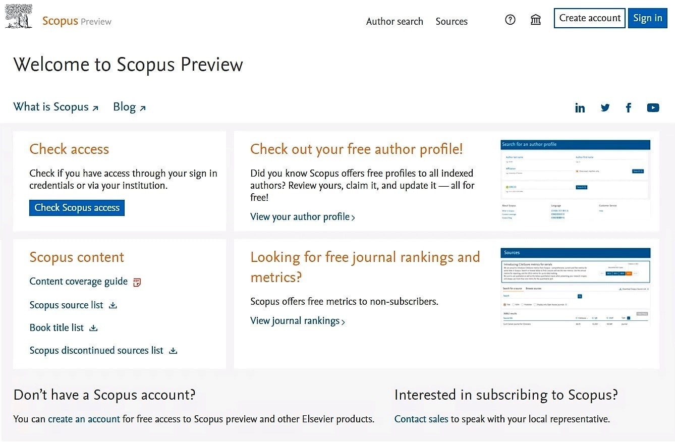Scopus Preview | Elsevier