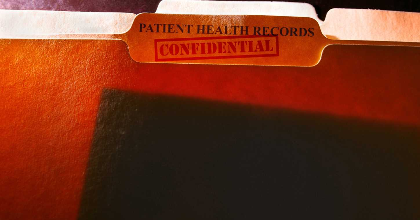 An image of a confidential file