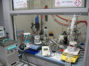 A daily challenge: where to place another hot plate in the fume hood?