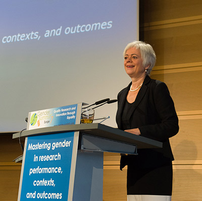 Cornelia Quennet-Thielen, State Secretary of the German Federal Ministry of Education and Research, gives the opening keynote. (Photo © Ben Pollitzer)