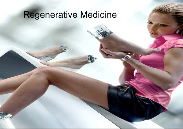 Dr. Canton uses this slide to demonstrate the possibilities of regenerative medicine.
