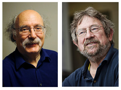 Prof. Duncan Haldane and Prof. Michael Kosterlitz (Photo: ANP)