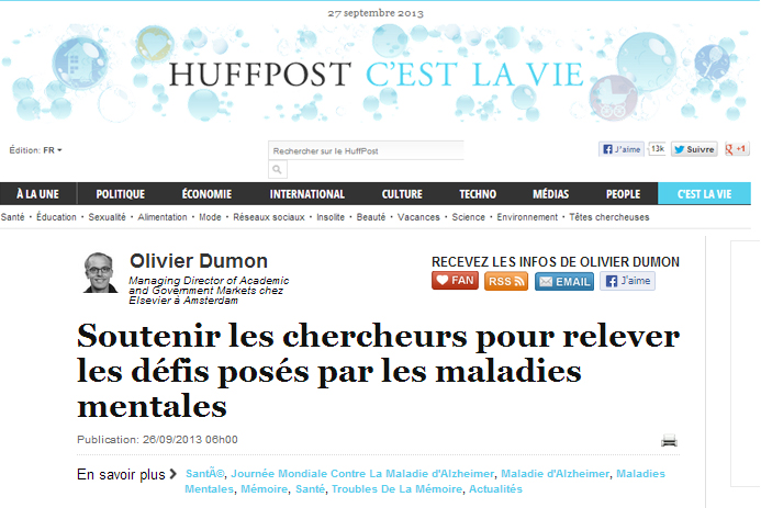 Olivier Dumon in the French Edition of the Huffington Post