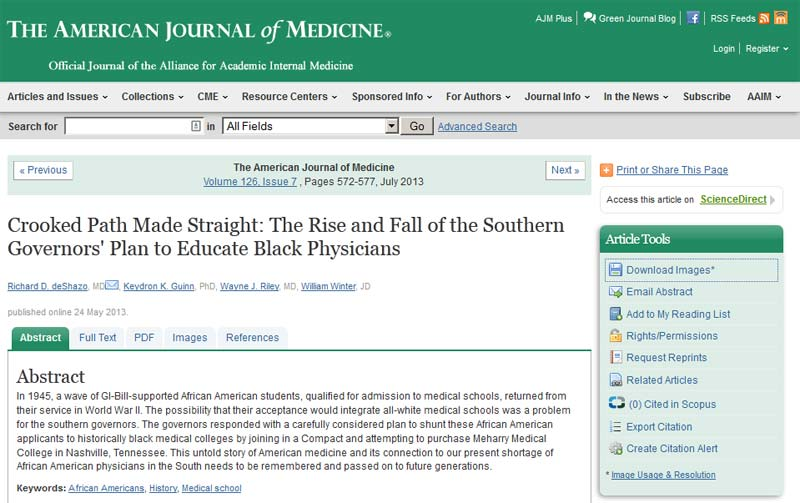 This article is freely available on the American Journal of Medicine website.