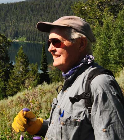Author John Shroder, PhD, in Grand Teton National Park, Wyoming.