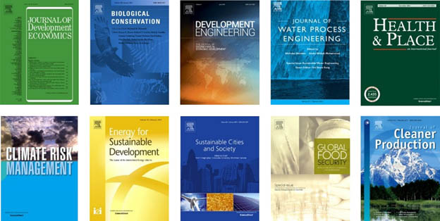 A sample of Elsevier's many journals that publish sustainability research.