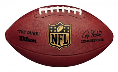 Wilson footballs are used by the NFL.