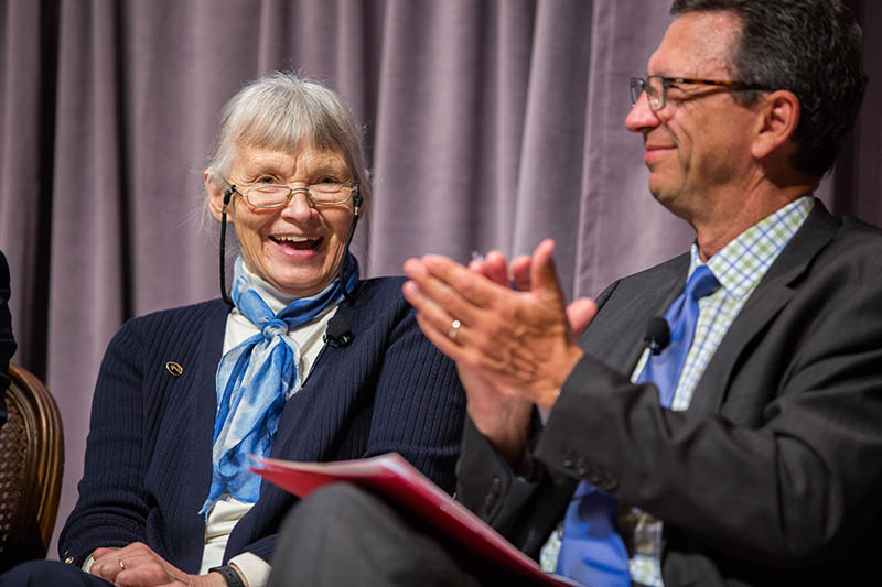 Dr. Joyce Longcore participates in the panel at the Golden Goose Award ceremony. (Photo by Rachel Couch)